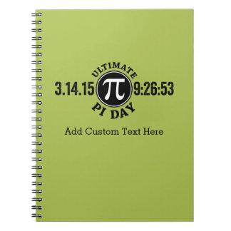 Último pi día 14 de marzo de 2015 libro de apuntes