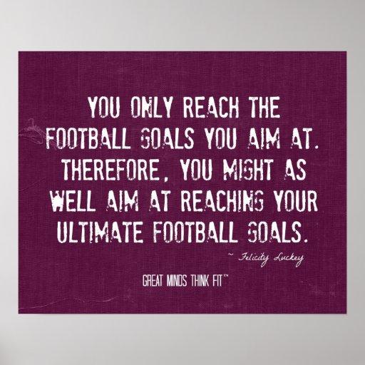 Último poster de las metas del fútbol