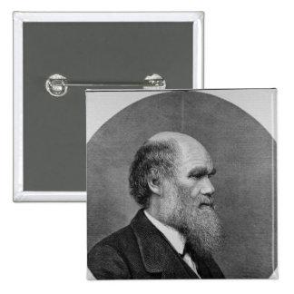 Último Sr. C.R. Darwin, FRS, LLD Pin Cuadrado