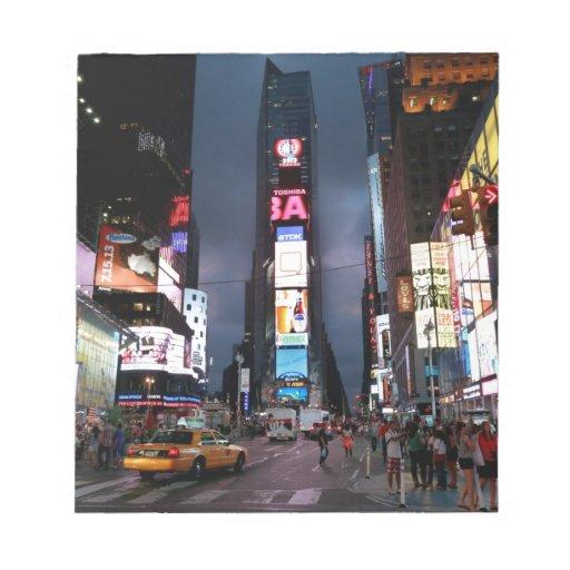 Último Times Square New York City los E.E.U.U. Blocs De Notas