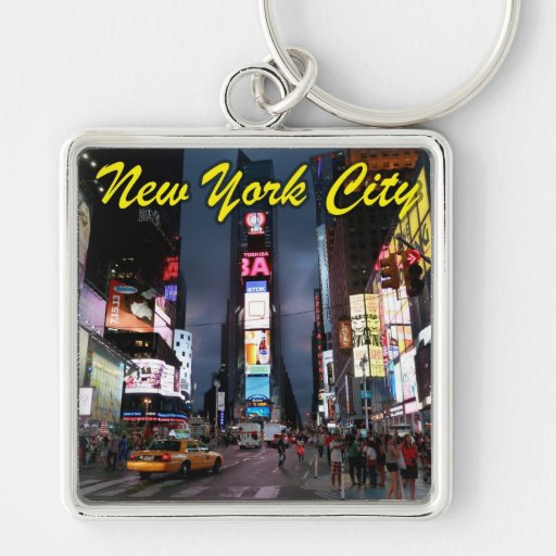 Último Times Square New York City los E.E.U.U. Llaveros Personalizados