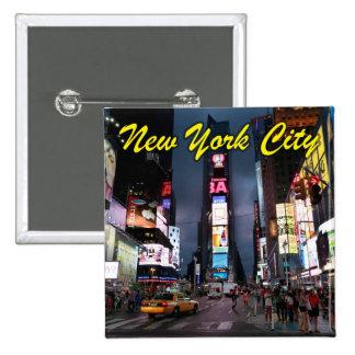 Último Times Square New York City los E.E.U.U. Pin Cuadrada 5 Cm