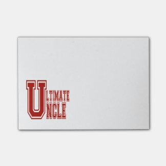 Último tío en de rojo post-it® notas