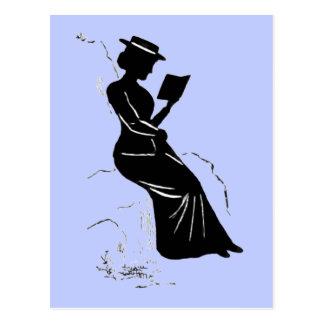 Último Victorian - silueta de la era de una Postales