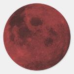 Últimos pegatinas carmesís de la luna
