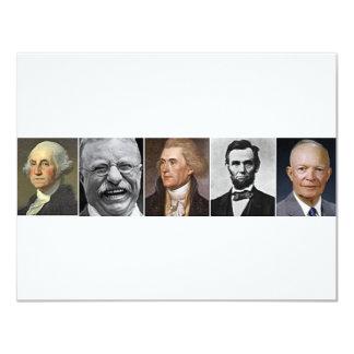 """Últimos presidentes invitación 4.25"""" x 5.5"""""""