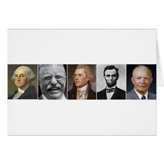 Últimos presidentes tarjeta de felicitación