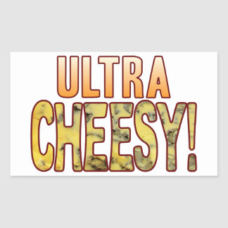 Ultra Blue Cheesy Rectangular Sticker