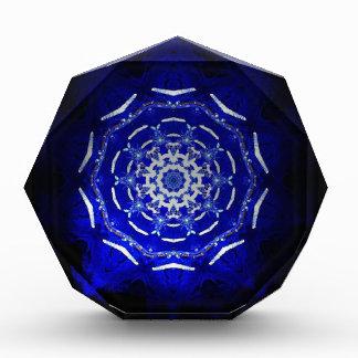 Ultra Blue Light Kaleidoscope Star Burst Award