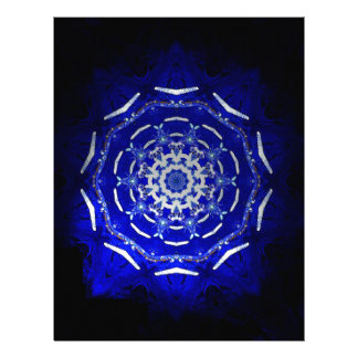 Ultra Blue Light Kaleidoscope Star Burst Letterhead