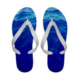 Ultra Blue Waves Flip-Flops