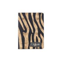 Ultra Chic Faux Zebra Print Monogrammed Passport Holder