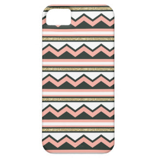 Ultra Chic Gold Coral Chevron iPhone 5 5s Case