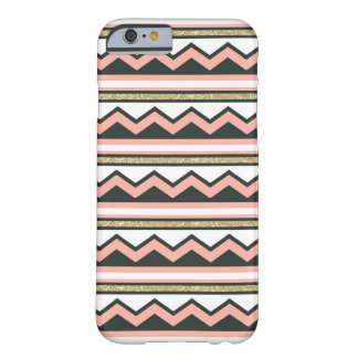 Ultra Chic Gold & Coral Chevron iPhone 6 case iPhone 6 Case