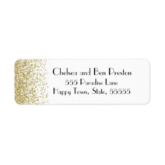 Ultra Chic Gold Glitter Sparkle Label
