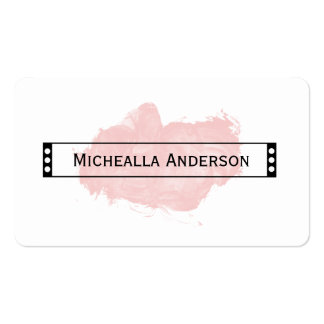 Ultra Chic Watercolor Personal Consultant Business Card