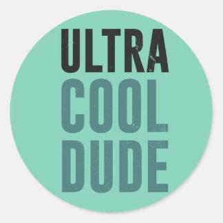Ultra Cool Dude Classic Round Sticker