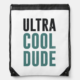 Ultra Cool Dude Drawstring Backpack