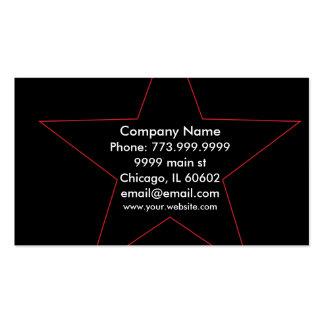 Ultra cool Stylish Star pink, Black & White Business Card