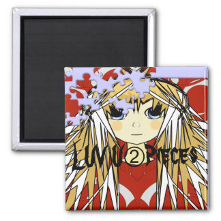 Ultra Cute Anime Girl Luv U 2 Pieces Magnet