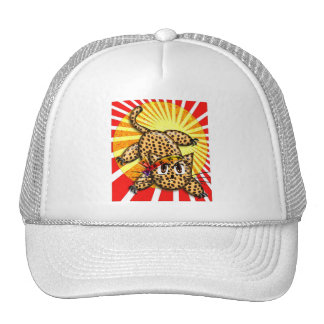 Ultra Cute Anime Leopard Kitty Rainbow Head Band Trucker Hat