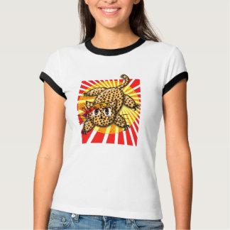 Ultra Cute Anime Leopard Kitty Rainbow HeadBand T-Shirt