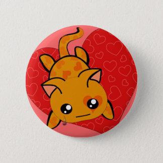 Ultra Cute Kawaii Valentine Kitty Pinback Button
