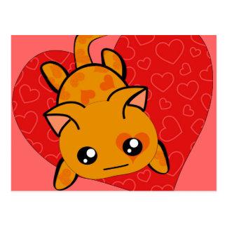 Ultra Cute Kawaii Valentine Kitty Postcard