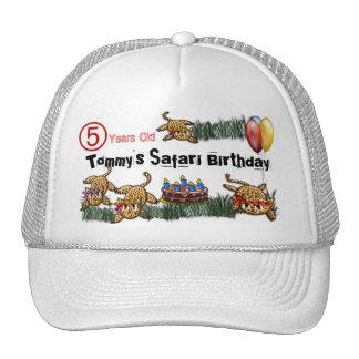 Ultra Cute Leopard Safari Birthday Hat