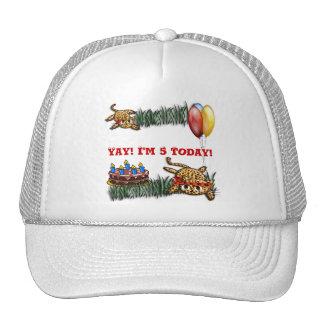 Ultra Cute Leopard Safari Birthday Invitations Trucker Hat