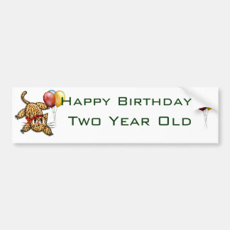 Ultra Cute Leopard Safari Birthday Invitations Wit Bumper Sticker