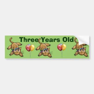 Ultra Cute Leopard Safari Birthday Invitations Wit Bumper Sticker