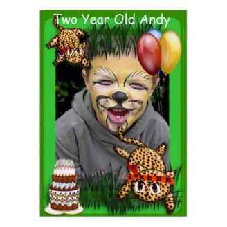 Ultra Cute Leopard Safari Birthday Invitations Wit