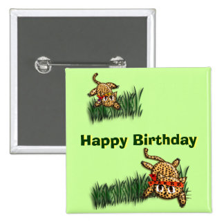 Ultra Cute Leopard Safari Birthday Invitations Wit Pin