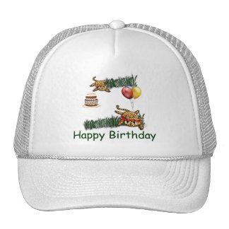 Ultra Cute Leopard Safari Birthday Invitations Wit Trucker Hat