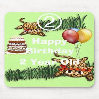 Ultra Cute Leopard Safari Birthday Invitations Wit Mouse Mats