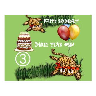 Ultra Cute Leopard Safari Birthday Invitations Wit Postcard