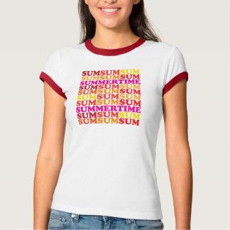Ultra-Cute Sum Sum Sum Summertime Ringer T T-Shirt