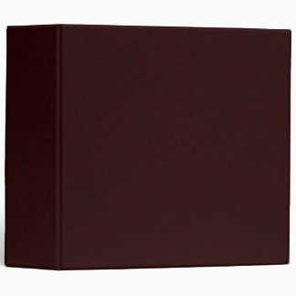 Ultra Dark Brown 3-ring Binder
