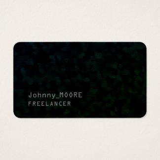 Ultra dark modern futuristic cyber black business card