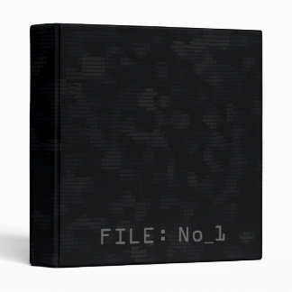 Ultra dark modern futuristic fashion black 3 ring binder