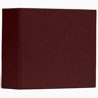 Ultra Dark Red 3-ring Binder