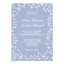 Ultra Elegant Echo Blue and White Willow Leaf Card