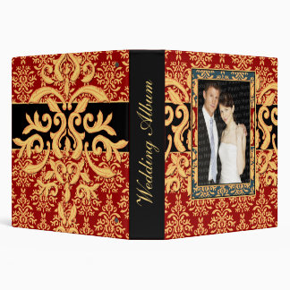 Ultra Elegant Gilded Damask Wedding Photo Album Binder