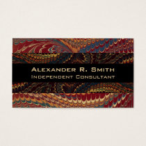 Ultra Elegant Independent Consultant's Antique Business Card