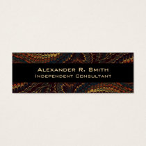 Ultra Elegant Independent Consultant's English Mini Business Card