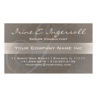 Ultra Elegant Initial I Monogram Textured Taupe Double-Sided Standard Business Cards (Pack Of 100)