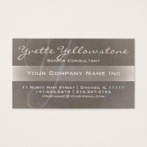 Ultra Elegant Initial Y Monogram Textured Taupe Business Card