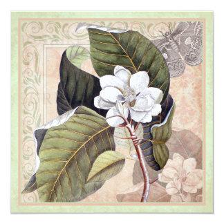 Ultra Elegant Vintage Botanical Collage Card