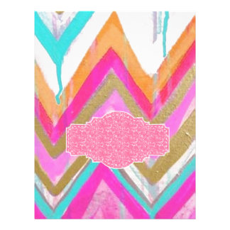 ultra,fun,pink,green,happy,colours,chevron,zigzag, letterhead